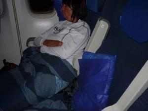 Viel Platz in Boeing 747 von San Francisco nach Chicago